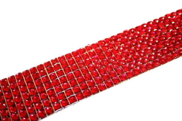 Acrylic bling cuff bracelet kit - Red